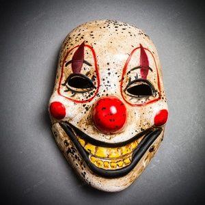 Halloween Scary Horns Devil Full Face Costume Mask
